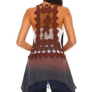 Tops - Ombre Layered Lace Tunic